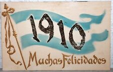 Postcard Argentina 1910 - Muchas Felicidades - Postkarte