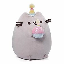 "Pusheen The Cat Happy Birthday With Cupcake 10.5""H NWT GUND Plush"