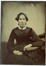 """Large Tintype- Portrait of a Lady- 5"""" x 7"""""""