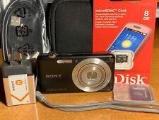 Sony Cyber-shot DSC-W710 16.1MP Digital Camera - Black + SD Card + Case