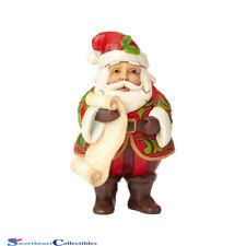 Jim Shore Heartwood Creek 6001495 Mini Santa With List 2018