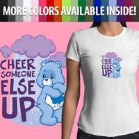 Care Bears Cheer Someone Else Up Grumpy Bear Cute Girls Juniors Tee T-Shirt S~2X