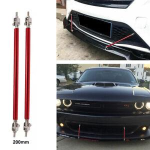 20cm Adjustable Car Bumper Lip Splitter Strut Rod Support Bars Aluminum Alloy