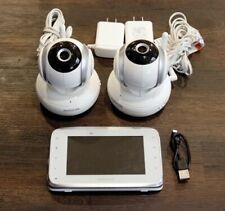 "New listing Motorola Mbp38S-2 4.3"" Color Baby Monitor & 2 Cameras w Tilt Zoom Pan. Works."