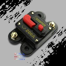 200 AMP CAR STEREO INLINE POWER CIRCUIT BREAKER REPLACES FUSE HOLDER 200A 12Volt