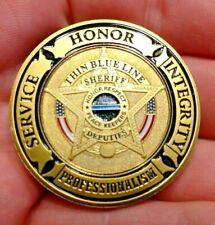 Sheriffs Deputy challenge coin Blue lives matter matter Thin blue line