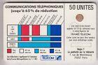 VARIETE TELECARTE CORDON BLANC .. 50U Ko58 SC4OB V° P.NOIR SUR E IMP.11521 C.?€