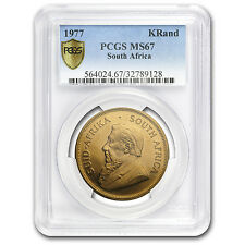 1977 South Africa 1 oz Gold Krugerrand MS-67 PCGS - SKU #105296