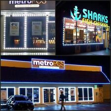 100 PCS 50 FEET LIGHT 5050 LED WHITE MODULE STORE FRONT WINDOWS + POWER +CONTROL