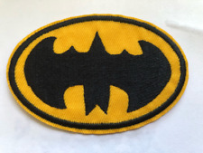 BATMAN patch LOGO,DC COMICS Embroidery Iron On Applique Patch 3x2 inches