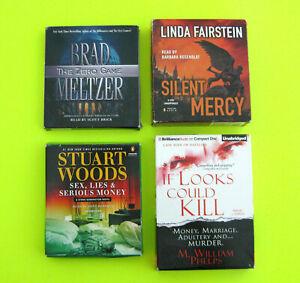 CD AUDIOBOOKS Crime Thrillers (Lot of 4 Books) Stuart Woods Brad Meltzer & More