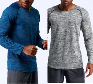 Fitnessshirt Funktions Shirt Laufshirt Herren langarm Longsleeve Fitness Sport