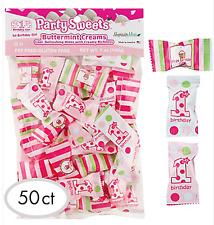1st First Birthday Girl Pink Buttermint Cream Candy Piñata Filler Favors Candies