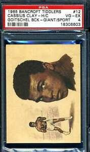 Cassius Clay PSA VG EX 4 1965 Bancroft Tiddlers Rookie Muhammad Ali