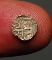 NEPAL 17-18 CENTURY *SILVER* DAM WORLD LIGHTEST ONE ANCIENT CURRENCY MONEY COIN