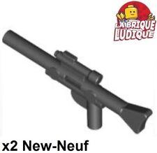 Lego 2x arme star wars weapon pistolet gun blaster long noir/black 57899 NEUF