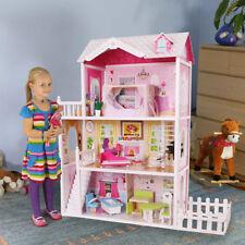 Großes Holz Puppenhaus California Barbiehaus Traumhaus Holzhauz  mit Garten
