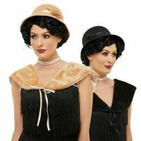 1920s Charleston Sombrero & Piel Sintética Hombro Bolero Gánster Flapper Disfraz