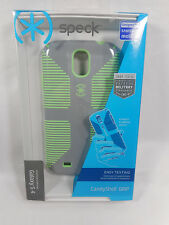 New OEM Speck Galaxy S4 CandyShell Grip Phone Case, Gray and Green, Authentic