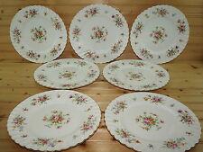 """Minton Marlow (7) Dinner Plates, 10 5/8"""", Older Globe Backstamp"""