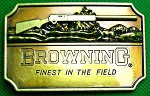 """Belt Buckle """"BROWNING FINEST"""" Fit 4 cm Wide Belt, DIY, Custom Metal Casting."""