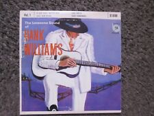 THE LONESOME SOUND OF HANK WILLIAMS VOL.1 MGM X1698 4TRX. EX/EX- OOP COUNTRY EP