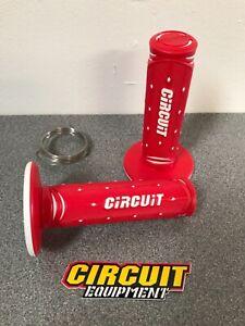 Circuit Jupiter MX Motocross Enduro Handlebar Grips Red White CR CRF Gas Gas