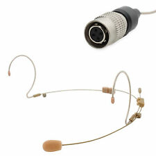 OSP HS-12 Dual Earset Headset Mic for Audio-Technica ATW (4 Pin Hirose Plug)