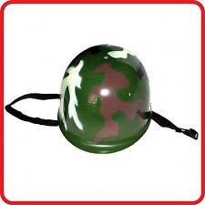 KIDS CHILDRENS CAMOUFLAGE ARMY MILITARY COMMANDO SOLDIER HELMET CAP HAT-COSTUME2