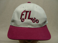 FTL, INC. - EMBROIDERED - ADJUSTABLE CANVAS BALL CAP HAT!