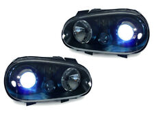 G Ecode 99-04 VW Golf 4 GTi R32 Xenon HID Projector Glass Headlight Black MK.IV
