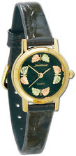 Black Hills Gold watch womens quartz analog with black band and face
