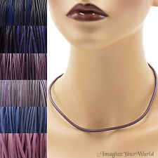 Purple Leather Cord Necklace Custom Handmade choker to 36 inches 16 22 24 30 18+