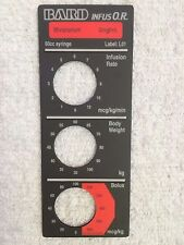 Baxter Bard Infus O.R. Smart Label, Mivacurium, Label: L01