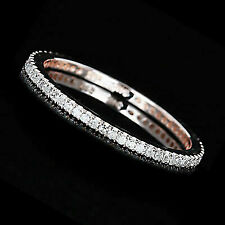 Round Cut Diamond Full Eternity in 14k Rose Gold Pave Wedding Band Ring
