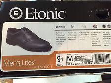 Etonic Men's Lites Golf Shoes Black, Size 9 1/2 , Medium EM6000-1