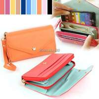 Leather Wallet Purse Phone Case Pouch for iPhone 4 4S 5 5S Samsung S2 S3 C1MY
