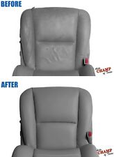 For 2005 06 Toyota Tundra Double Cab -Driver Side Bottom Leather Seat Cover Gray