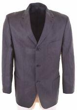 HUGO BOSS Mens 3 Button Blazer Jacket EU 54 2XL Navy Blue Linen Fellini AV04