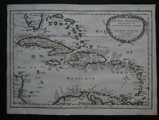 1662 SANSON Atlas map  ANTILLES ISLANDS - Les Isles Antilles - Caribbean - Cuba