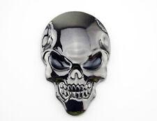 Mini 3D Skull Skeleton head Fuel Tank Badge Metal Decal Sticker Motorcycle DIY