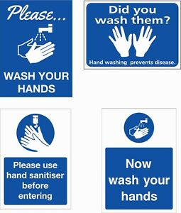 wash your hands - health and safety signs different sizes avalible!!