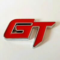 Red Chrome Metal 3D GT Sporty Badge Sticker for VW Golf Polo Passat CC Scirocco