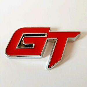 Rouge Métal Chrome 3D Gt Sporty Badge Autocollant Pour Dodge Avenger Challenger