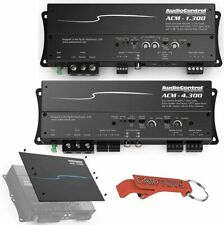 AudioControl Acm-4.300 4-Channel and Acm-1.300 Mono Car Amps w/ Cover Plate Kit