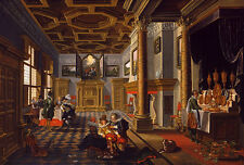 Renaissance Interior with Banqueters van de Velde Möbel Adel Saal B A3 01700