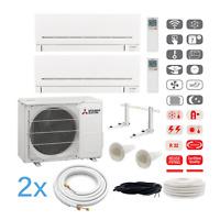 Mitsubishi Kompakt MultiSplit Duo Klimaanlage 2 x MSZ-AP35VG 3,5 kW + Montageset