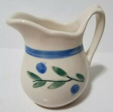 Hartstone USA Blueberry Design Creamer CR 8 oz HRTBLUE & Green