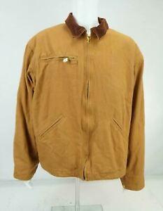 J. B. Hunt Men's Work Coat Chore Barn Jacket Duck Canvas Blanket Lined Brown 2XL