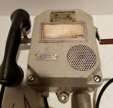 Vintage PERMISSIBLE TELEPHONE US INSTRUMENT CORP #A544 WITH HANDSET